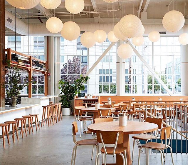 @communedesign created an airy space that's equal parts Danish cafe and Japanese teahouse for @tartinemanufactory. Click the link in our bio to go inside. #surfacemag