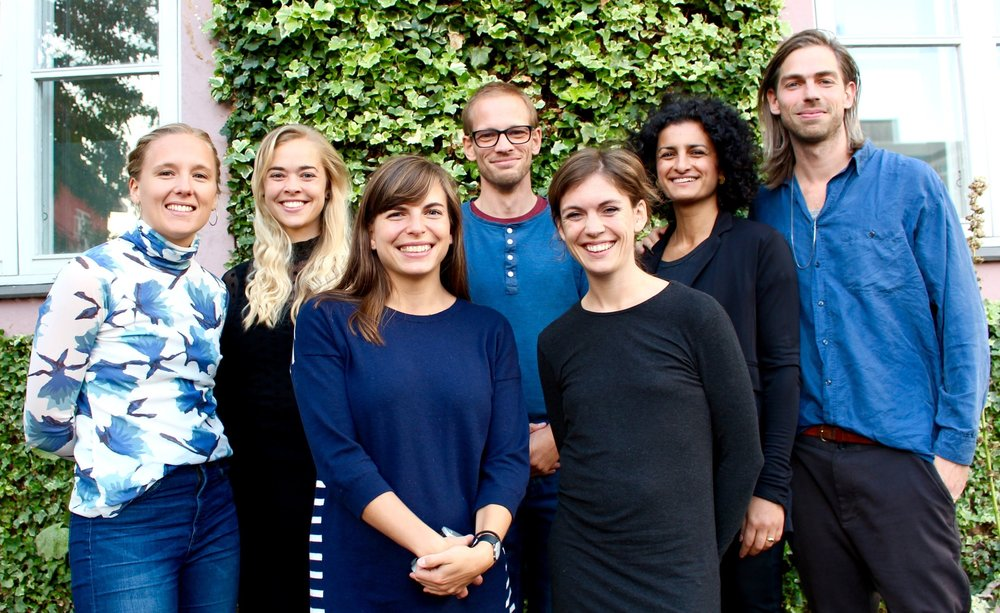 Bagerst fra venstre: Anne Nissen, Cecilie Jespersen, Steffen Dan-Nielsen (suppleant), Nasim Samandari (kasserer), Morten Schrøder (formand).  Forrest fra venstre: Iben Greiber (suppleant), Sandra Meinich Juhl (næstformand).