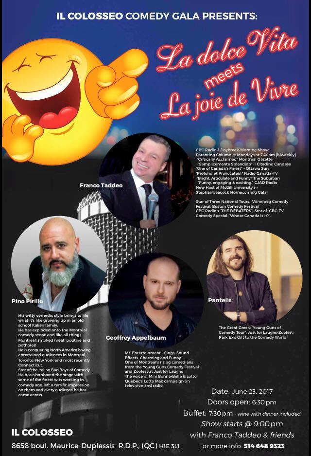Riviere des Prairies] - The Coliseo Comedy Gala