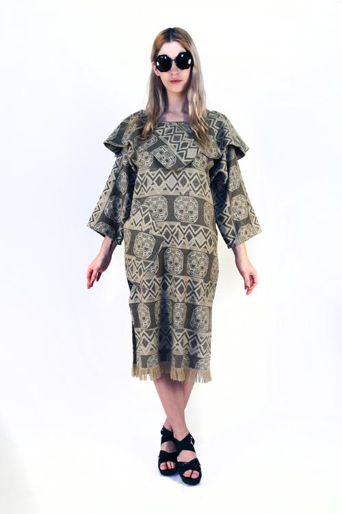VINTAGE WOOL DRESS SHAMAN