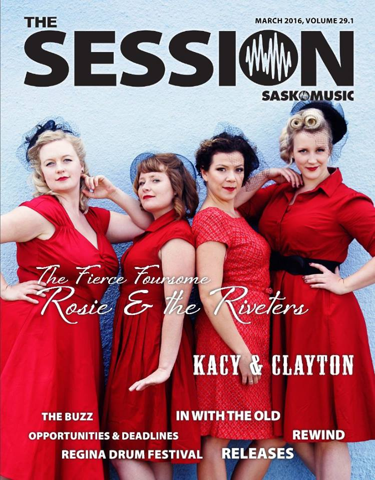 Giving some serious face on the cover of The Session magazine published and distributed by SaskMusic ©Martine Sansoucy Photography