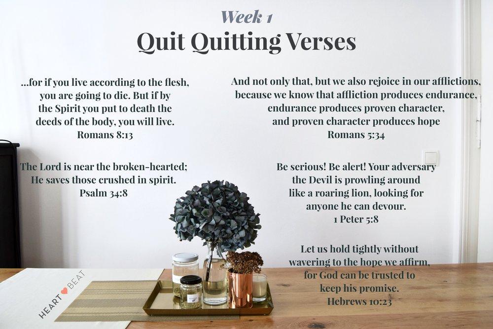 Quit Quitting Verses Wk 1
