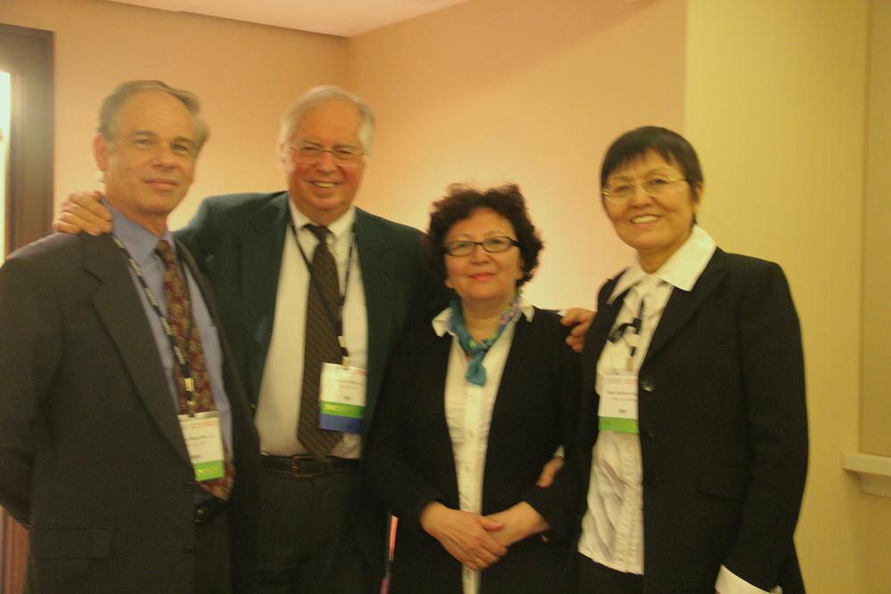 Charles Bonerbo, LCSW; Albert Brok PhD, :Student from Kazakhstan, Anna.kudoyarova, PhD; Director Kazakhstan Psychoanalytic Institute