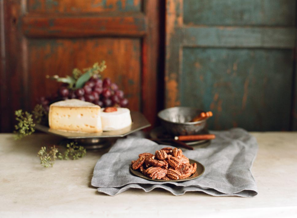 Treat Spiced Pecans are perfect with cheese