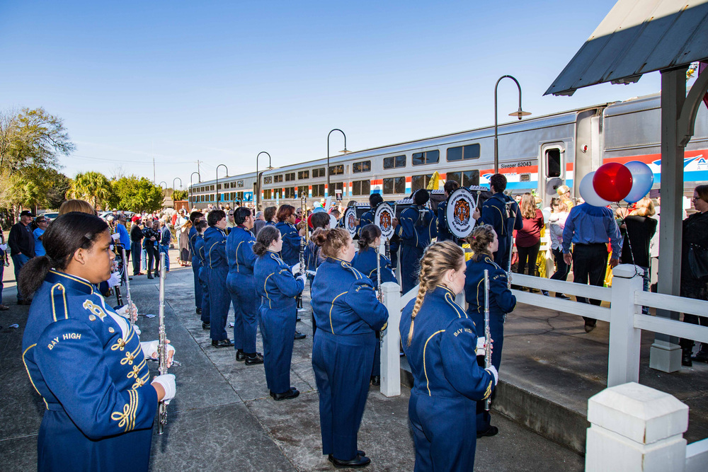 Bay St. Louis Amtrak arrival celebration |   Photo credit  Marc Glucksman/Amtrak