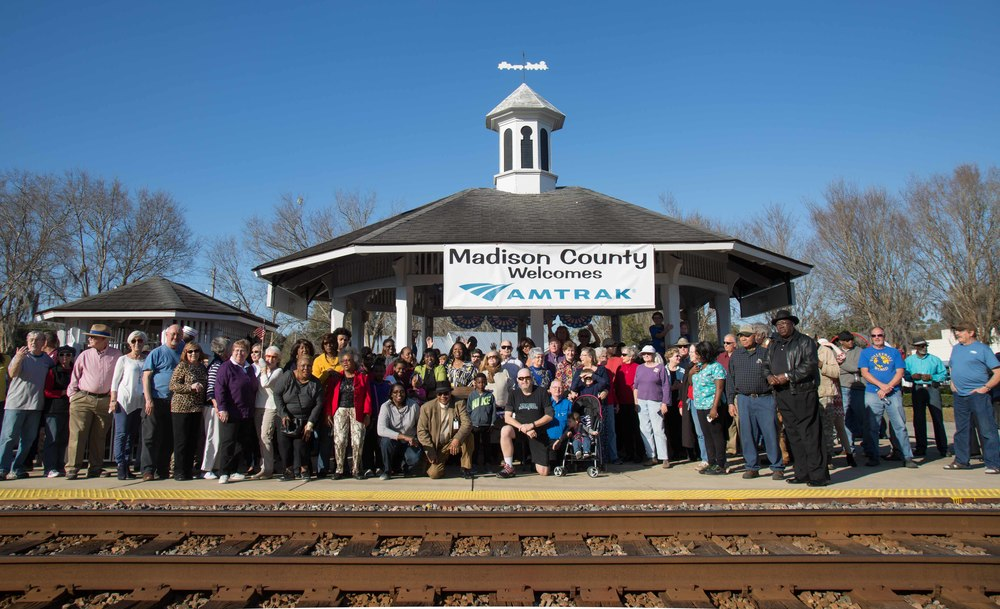 Crowd at Madison Station |  Photo credit  Marc Glucksman/Amtrak