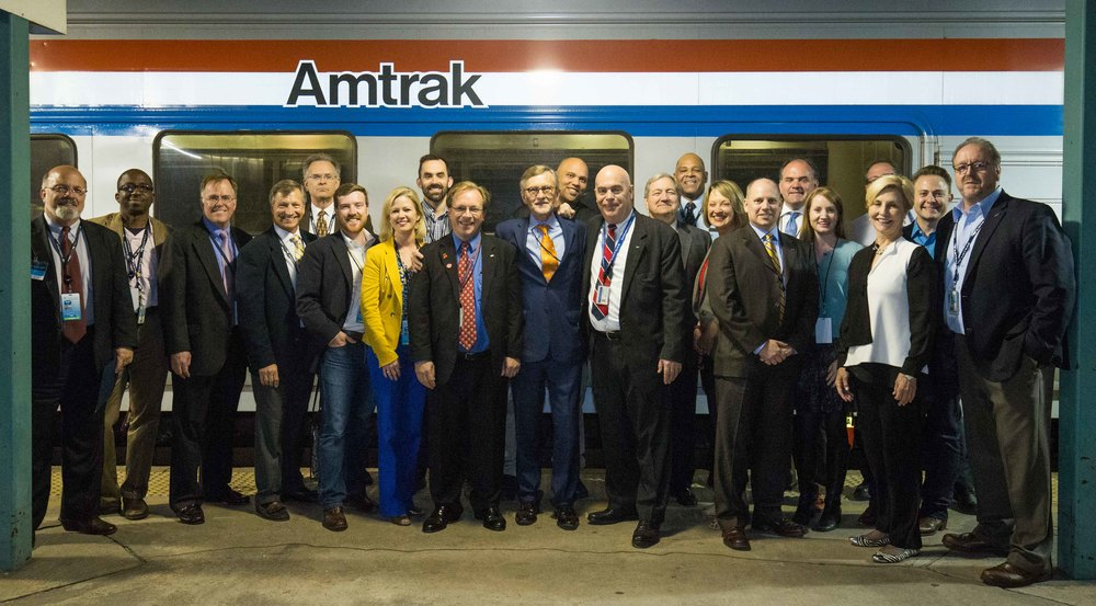 Southern Rail Commission and Amtrak Crew at the Jacksonville Station