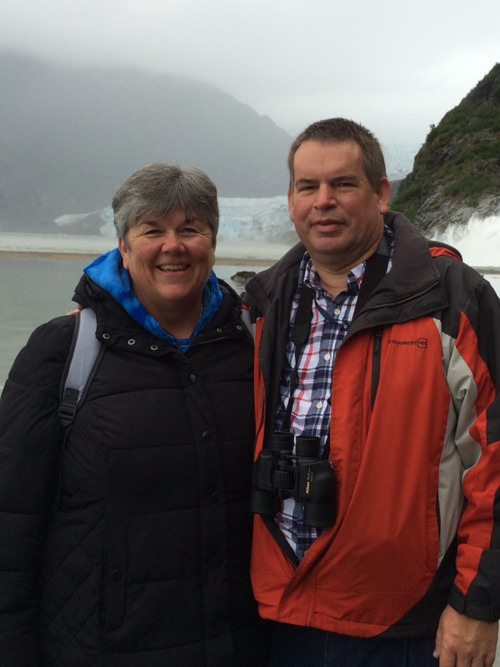 ROBERT WITH HIS WIFE, KIM, ON AN ALASKAN CRUISE.