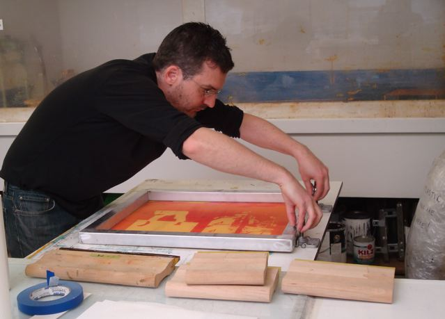 Printing residency with Thomas Sprenkle at OCAC print studio, Portland, Oregon.