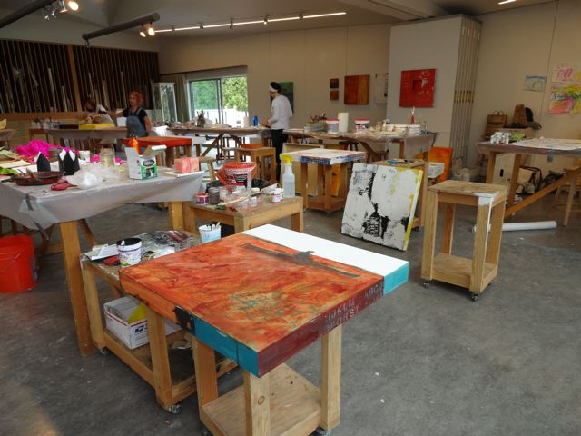 Studio shots: Boyden Studio, Sitka Center for Art & Ecology.