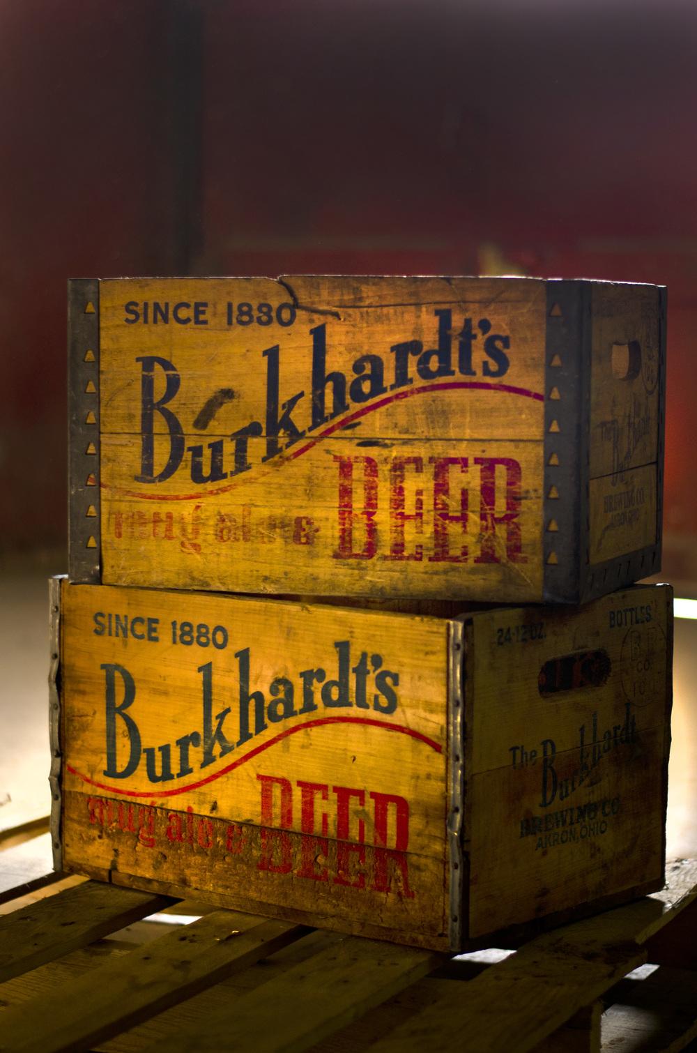 vintage beer crates