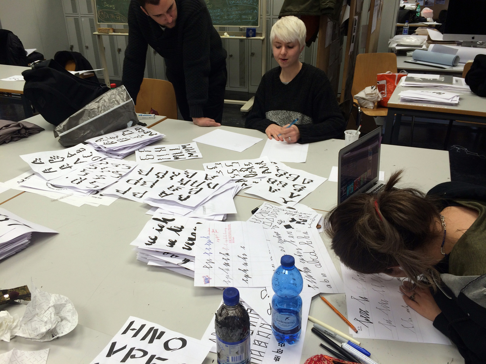 Philipp Herrmanns  Type Design workshop