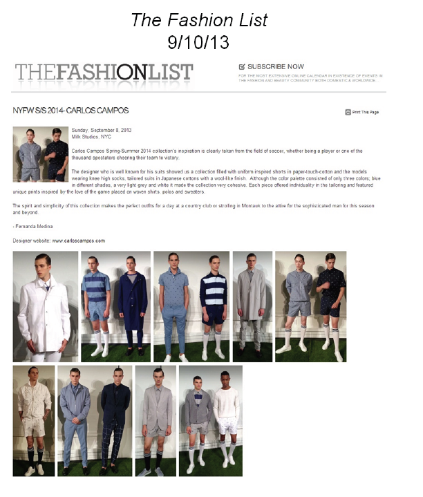 the fashion list