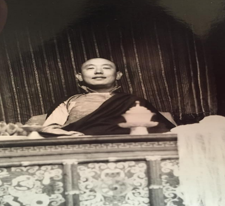Figure 4: My grandfather, Trinley Gyatso, in his late twenties at the Chusang Monastery c. 1964