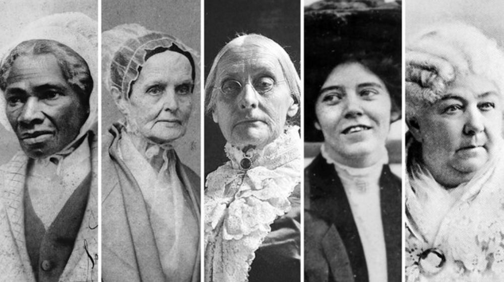 From left, suffragists Sojourner Truth, Lucretia Mott, Susan B. Anthony, Alice Paul and Elizabeth Cady Stanton will be featured on the back of the new $10 bill.