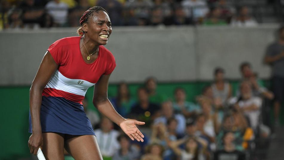 USA tennis player Venus Williams during round with Kristen Flipkens.