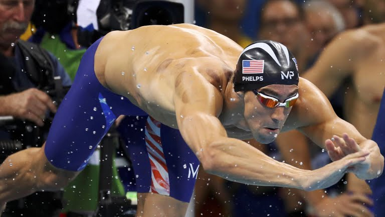 Phelps diving, for team USA!