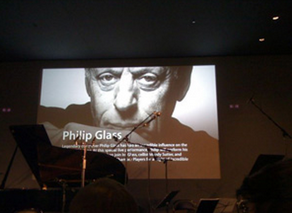 Apple's Live from Soho series for iTunes hosted the brilliant modern-classical-minimalist composer Philip Glass and his Glass Chamber Players.