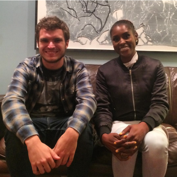 Engineer Zac Suskevich with Issa Rae