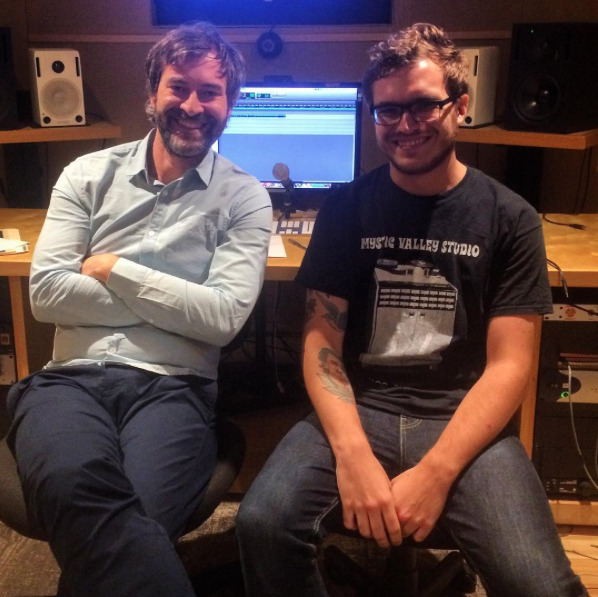 Engineer Zac Suskevich with Mark Duplass