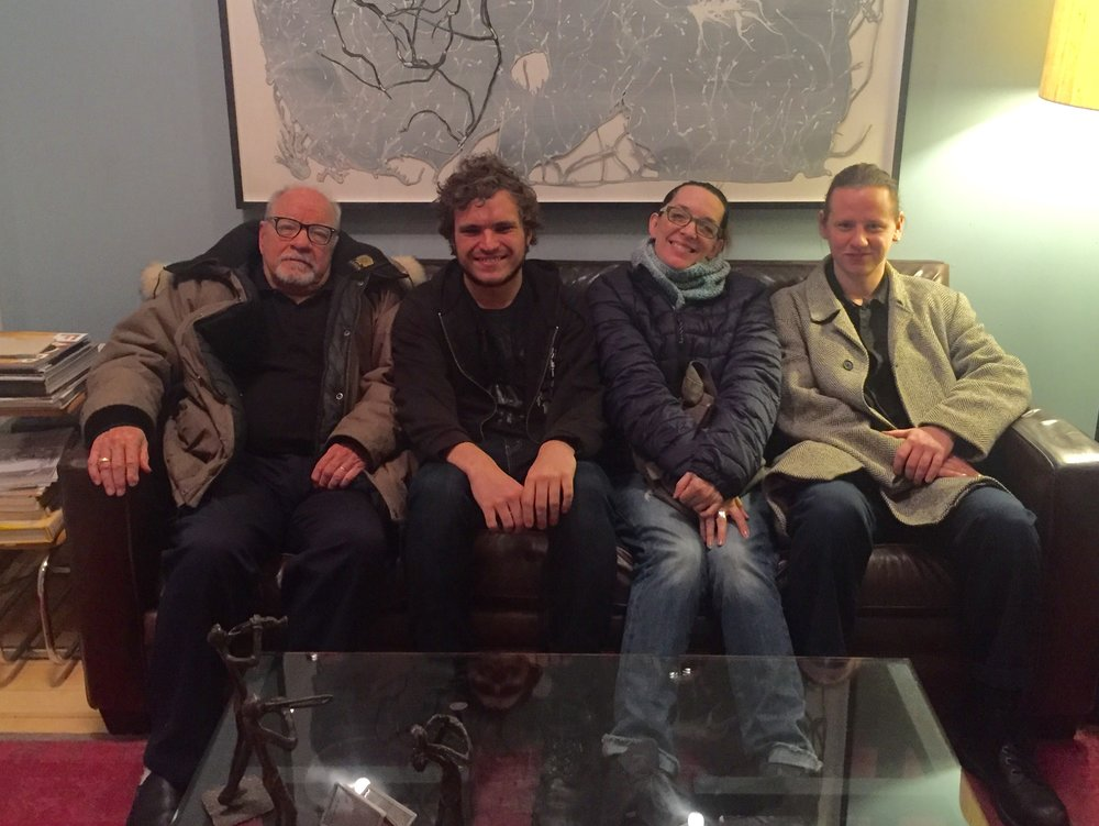 Paul Schrader, Zac Suskevich, Julia Murney and Jake Falconer at Dubway Studios.