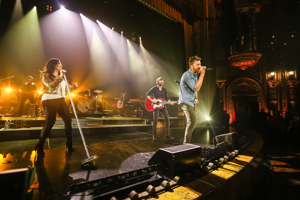 "Lady Antebellum performing at United Palace Theater for ""Live From The Artists Den"""
