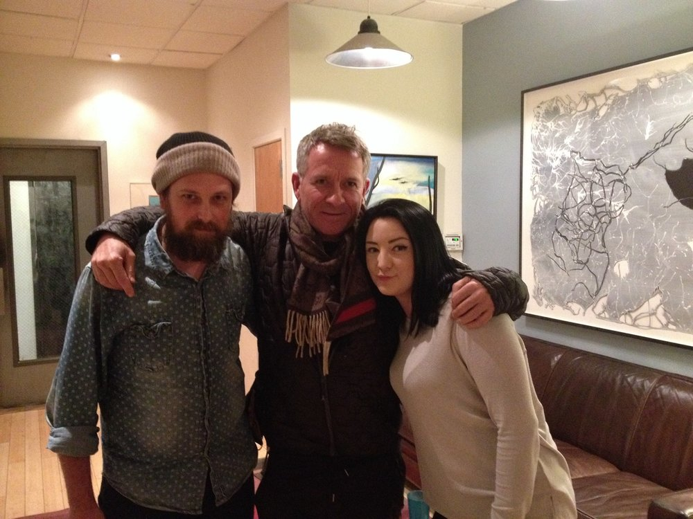Engineer Adrian Thorstensen, actor Sean Pertwee, studio manager Nicole Muzii