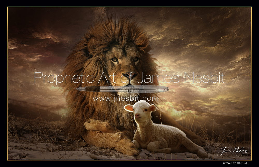 The Lion And The Lamb Products Prophetic Art Of James