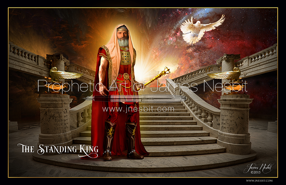 Throne Room Prophetic Art Of James Nesbit