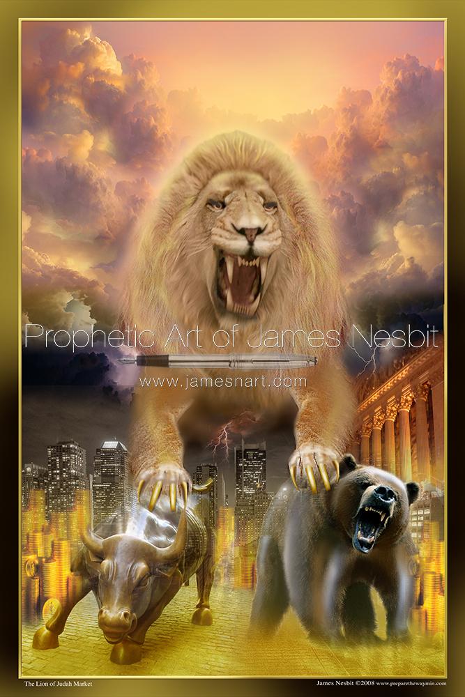 The Lion S Market Products Prophetic Art Of James Nesbit