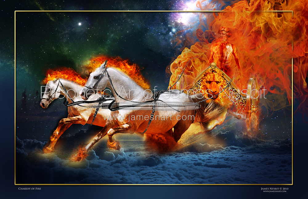Chariot of Fire —  Products – Prophetic Art of James Nesbit