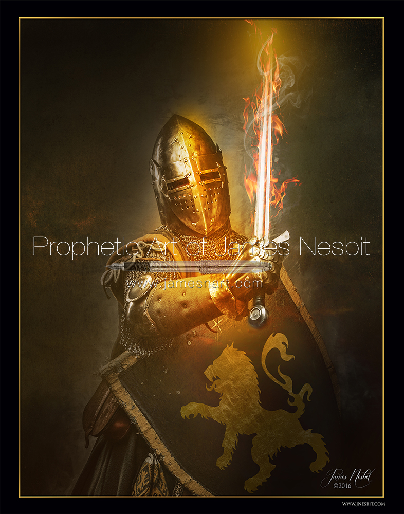 The Flaming Sword Products 3 Prophetic Art Of James Nesbit
