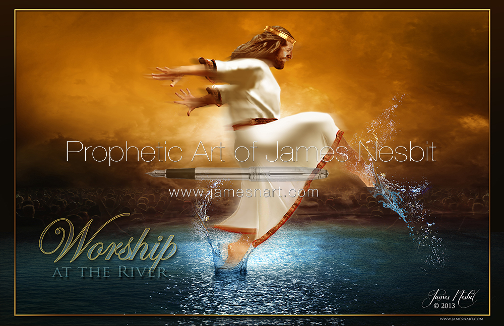 Image result for prophetic art Prophetic Worship at the River James Nesbit
