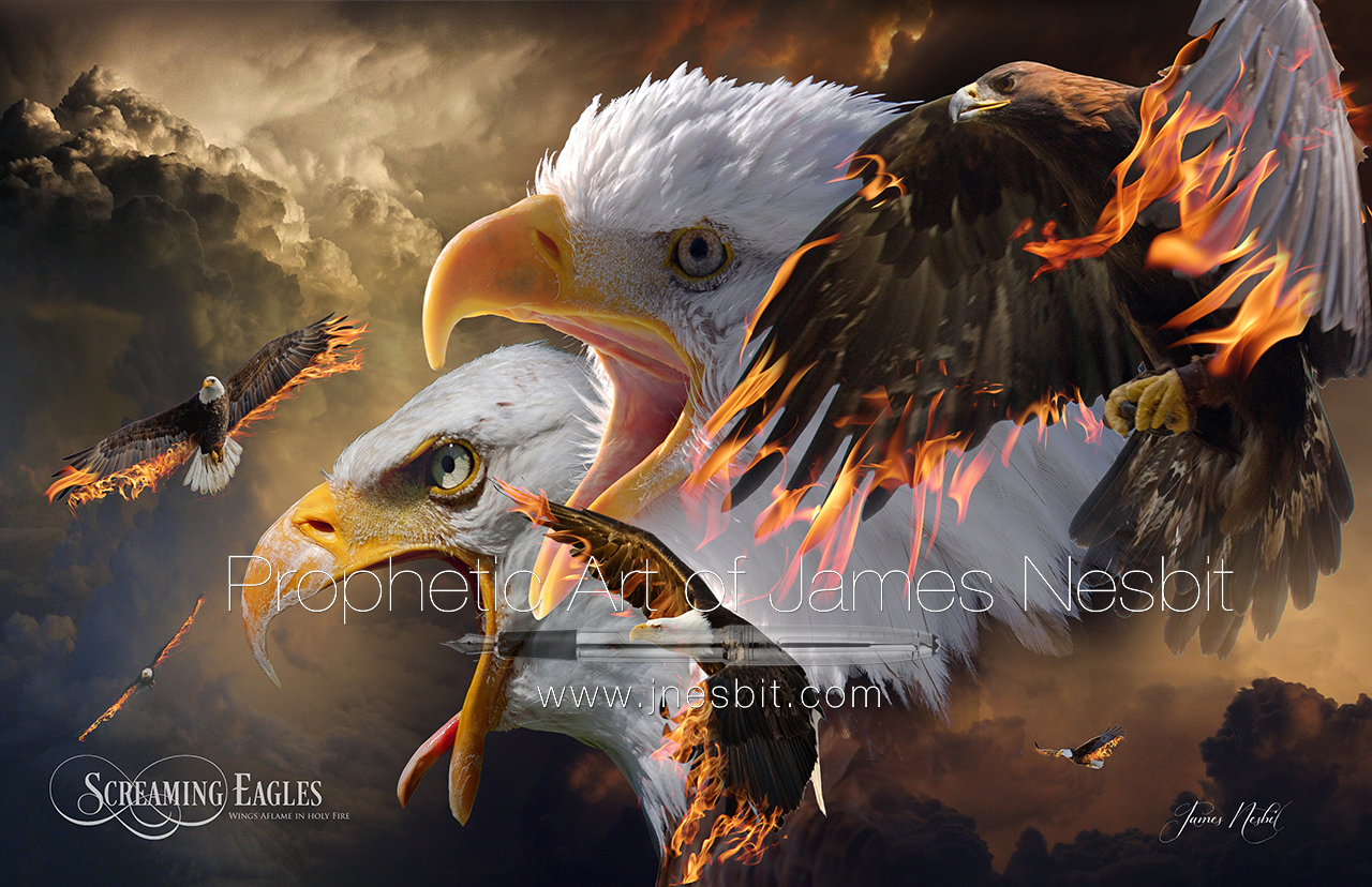 Screaming Eagles — Products – Prophetic  Art of James Nesbit
