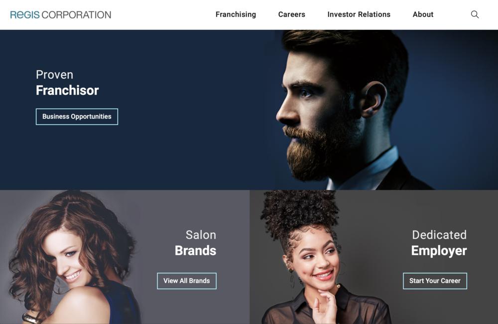 The new  RegisCorp.com .