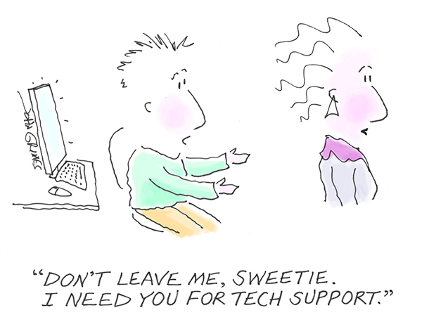 grimes cartoon tech support