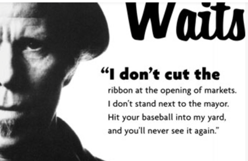Graphic from TheOnion.com's (print) interview with Waits.