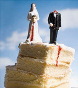 • Above: Divorce cakes
