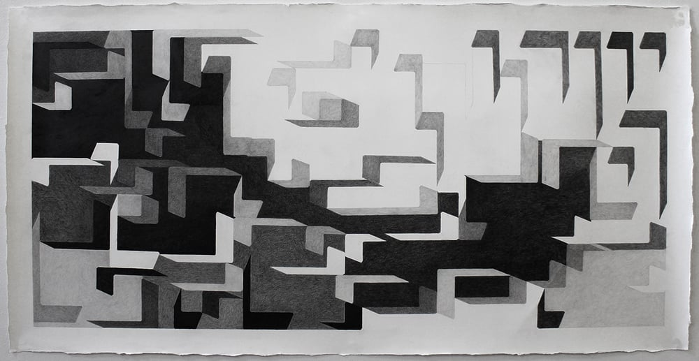 Father Tongue (Genesis 1) , 2015, graphite on paper, 30 x 60 inches