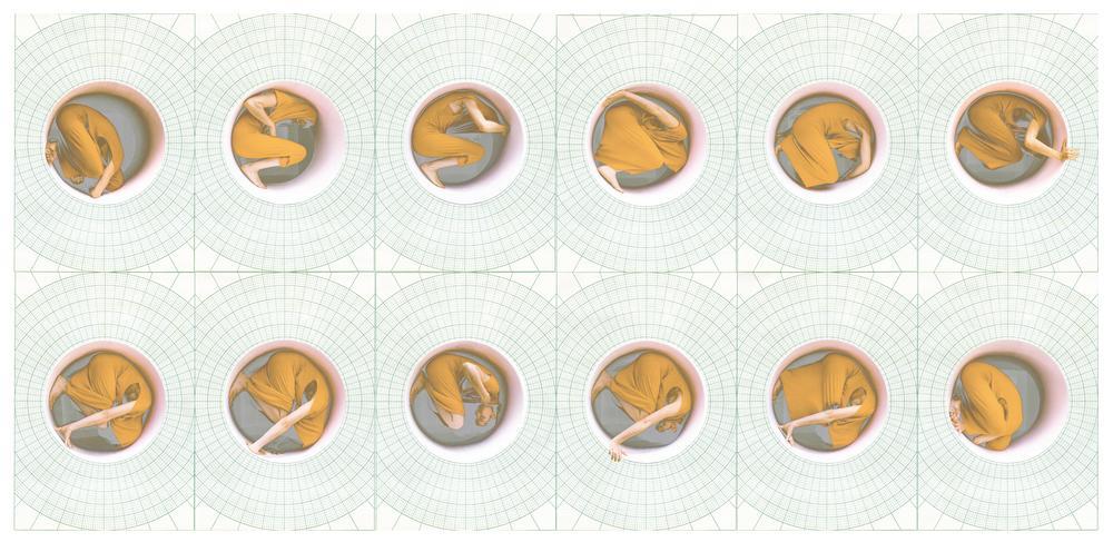 polar coordinates #5 (study), digital montage, dimensions variable, 2016