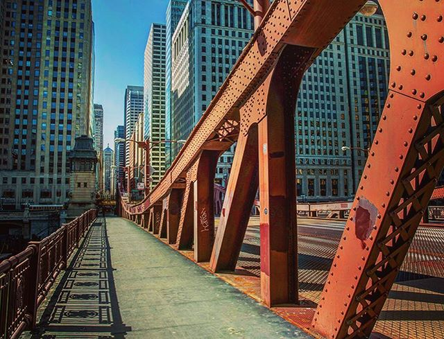 Chicago Week, Day 4: The La Salle Street Bridge, with the Chicago Board of Trade making a cameo off in the distance. . #cinematicutah #howlive #chicago #downtownchicago #chicagogram #chicagoland #chicagolife #chicagoshots #chicagolove #chicagoskyline #chitown #windycity #urbex #chicagoboardoftrade #lasallestreet #lasallestreetbridge