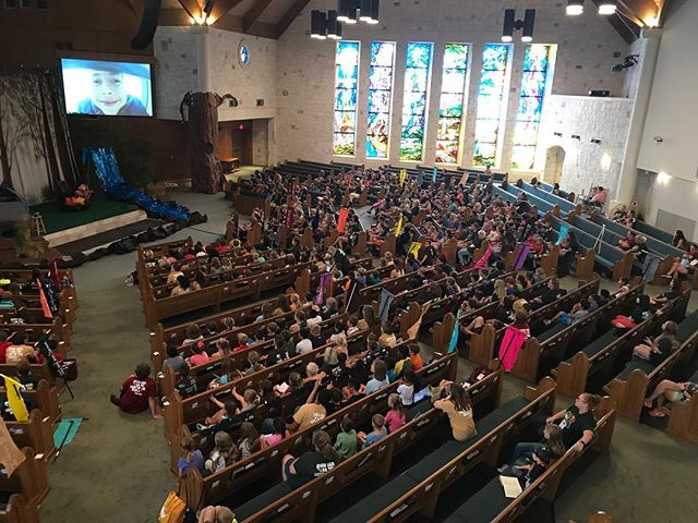 Hey church! It's VBS week! We have 586 children learning about Jesus at Camp Out VBS, and they have 326 student and adult leaders helping them know S'more about Jesus! These leaders need snacks!! Please bring fruit, veggies, baked goods, Velveeta and Rotel by the church office all week.