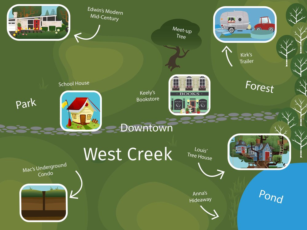 Map of West Creek
