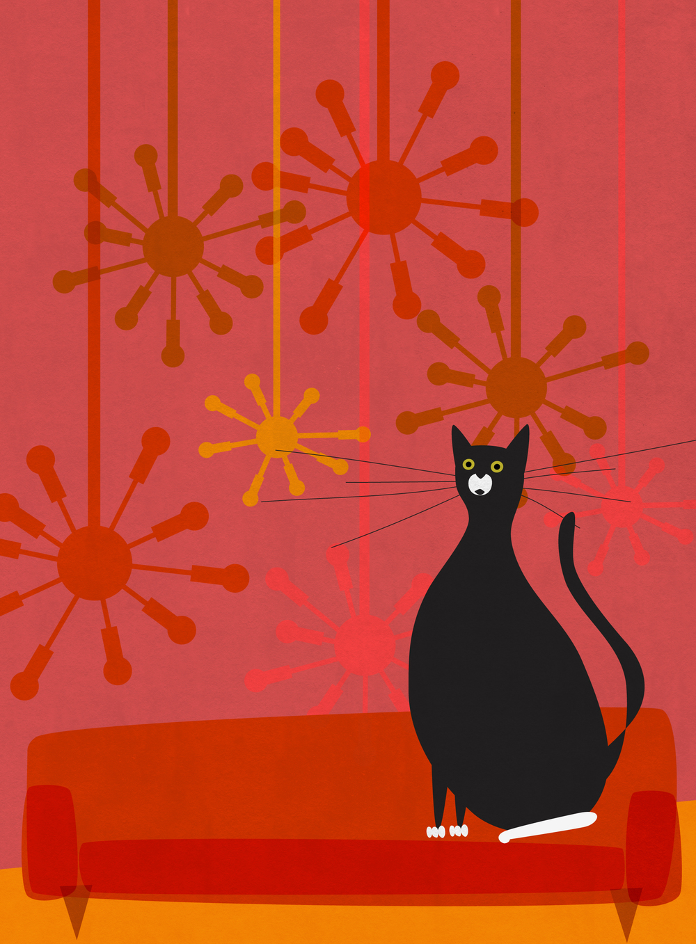 mid century meowdern, adobe illustrator
