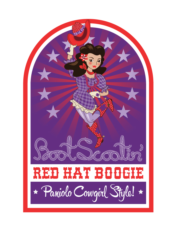 red hat boogie poster art, adobe illustrator