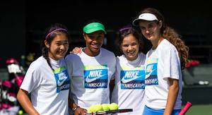 Girls from Nike Tennis Camps