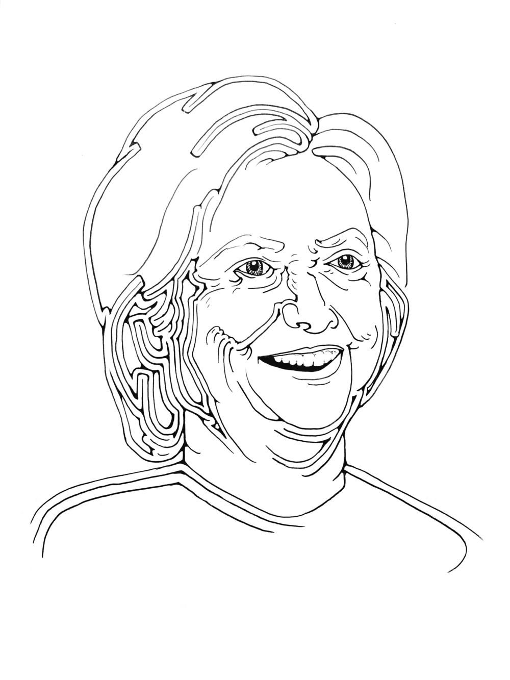 Hillary Rodham Clinton Print — Kate Kreps