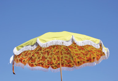 The Dora, big and beautiful vintage style beach umbrella. Available by Pre-Order now!