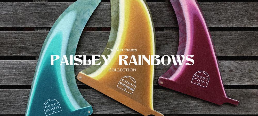 Paisley Rainbow Fins
