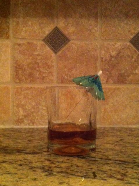 Step 3: Garnish with umbrella.